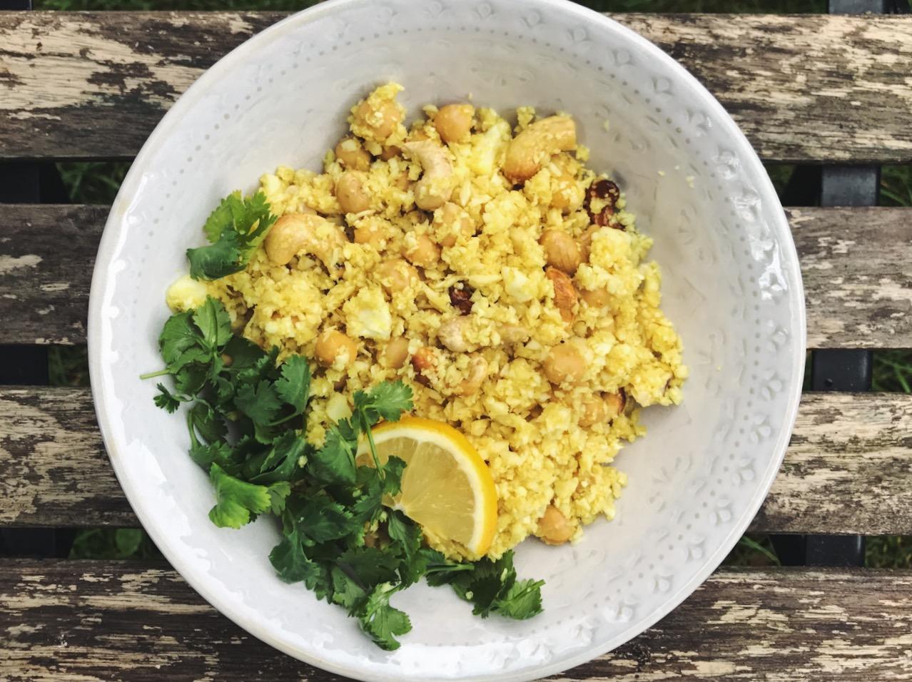 15224 Рецепт Лимонный рис с нутом и кешью
