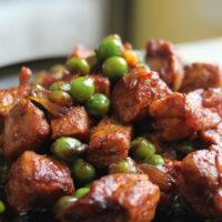 15339 Рецепт Жаркое с зеленым горошком в мультиварке