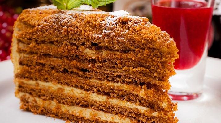 15380 Рецепт Медовик со сметанным кремом