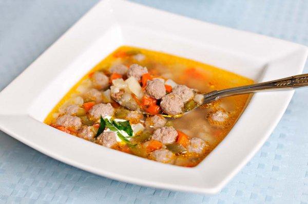 Рецепт Гречневый суп с фрикадельками