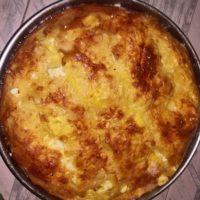 15556 Рецепт Творожно-яблочная баница
