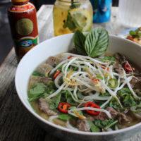 15598 Рецепт Суп с рисовой лапшой и красным рисом