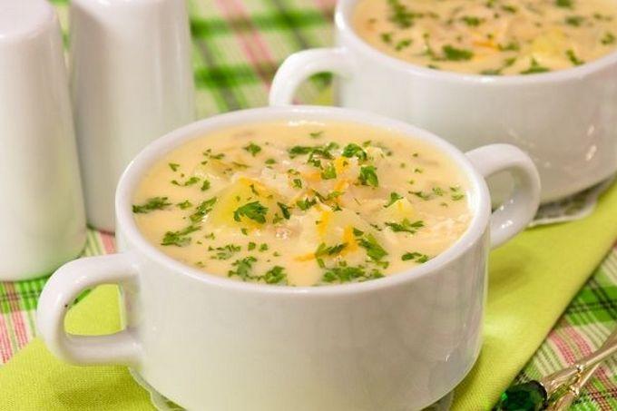 Рецепт Молочный суп с горохом и цветной капустой