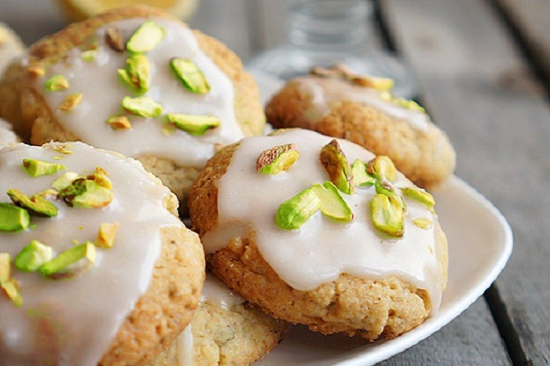 Рецепт Лимонное печенье с фисташками