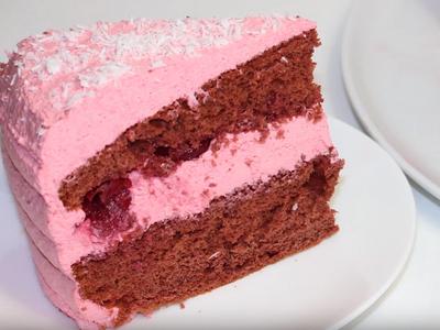 Рецепт Торт «Розовый фламинго»