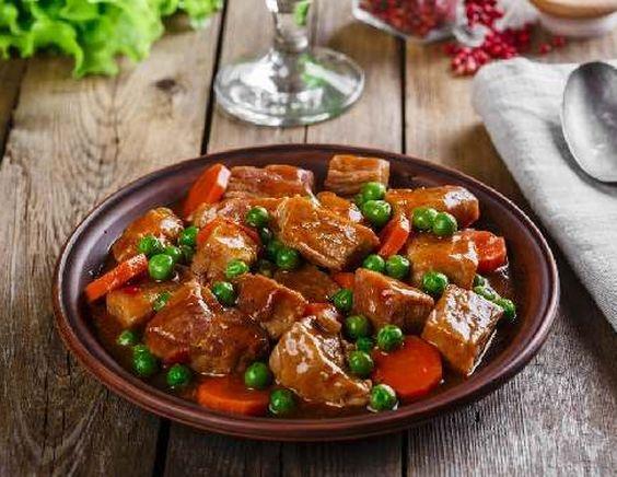 15723 Рецепт Говяжье рагу с зеленым горошком