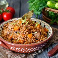 15770 Рецепт Гречка быстрая с мясом и лечо
