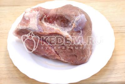 Мясо в рукаве