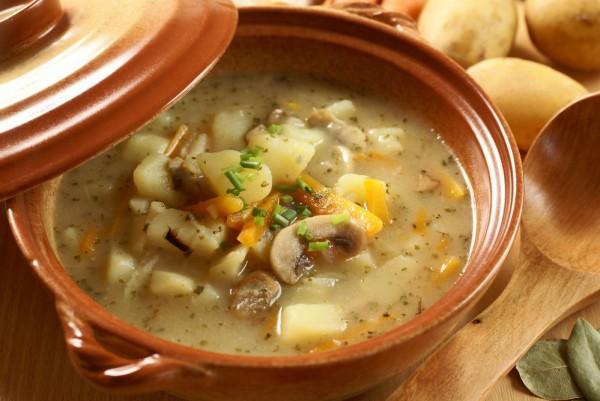 Рецепт Суп из шлифованной фасоли с шампиньонами