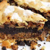 16157 Рецепт Яблочный пирог с маком и орехами