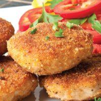 16165 Рецепт Куриные котлеты с грибами под соусом
