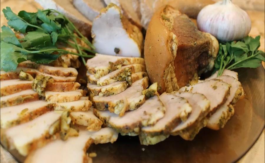 16261 Рецепт Свиные щеки с чесноком