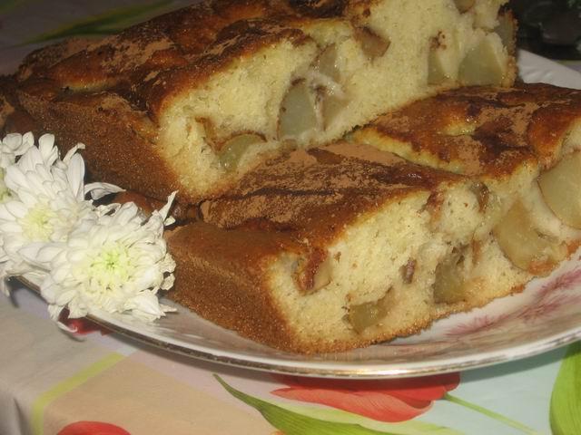 31383 - Рецепт Пирог с грушей и кокосовой стружкой