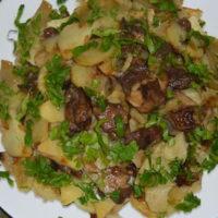 16483 Рецепт Маслята с молодым картофелем