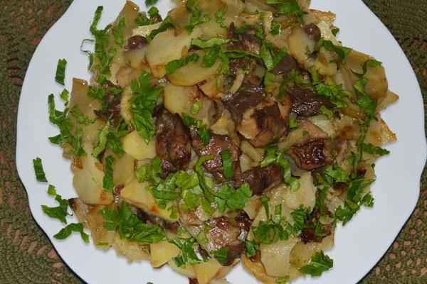 Рецепт Маслята с молодым картофелем