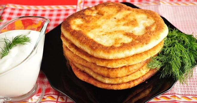 Рецепт Лепешки сырные на сковороде