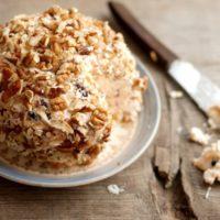 16584 Рецепт Закусочный сырный шар с зеленью и орехами