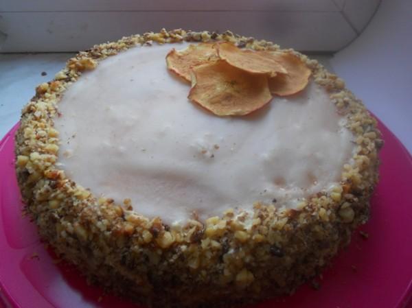 Рецепт Орехово-сливочный торт