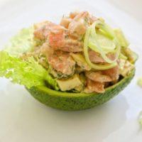 16642 Рецепт Салат с тунцом и авокадо