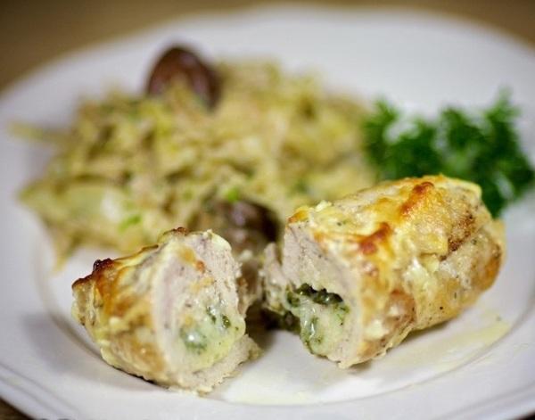 Рецепт Куриные крученики с сыром и яйцом