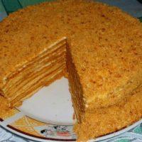 """16690 Рецепт Домашний торт """"Медовый"""""""