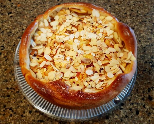 Рецепт Штрейзельный пирог с персиками