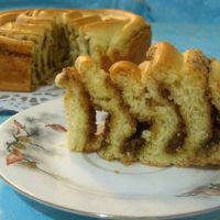 16725 Рецепт Пирог с яблоками, орехами и корицей