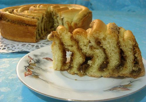 Рецепт Пирог с яблоками, орехами и корицей
