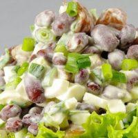 16730 Рецепт Салат с фасолью и шампиньонами