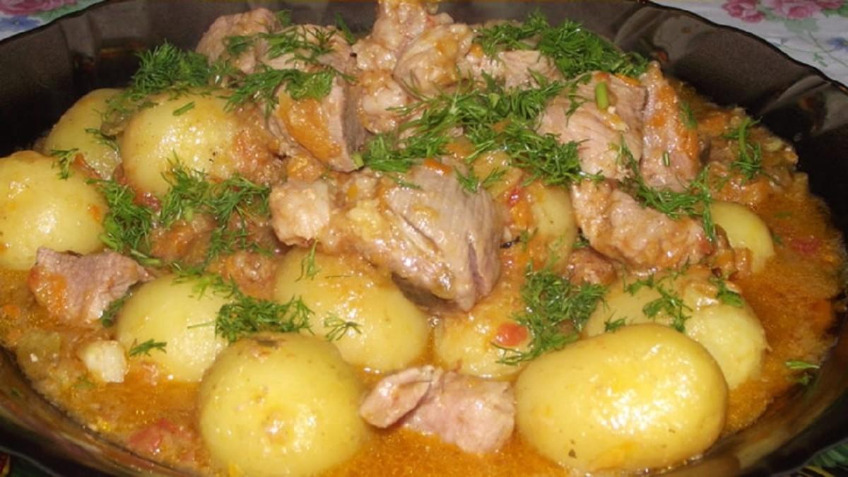 Рецепт Тушеный картофель с мясом «Папин»
