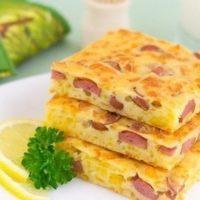 16736 Рецепт Пирог с сыром и колбасой