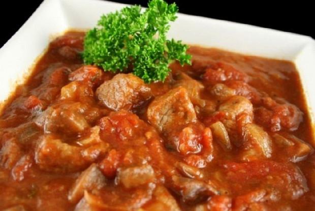 """16753 Рецепт Мясо с подливой """"Столовое"""""""