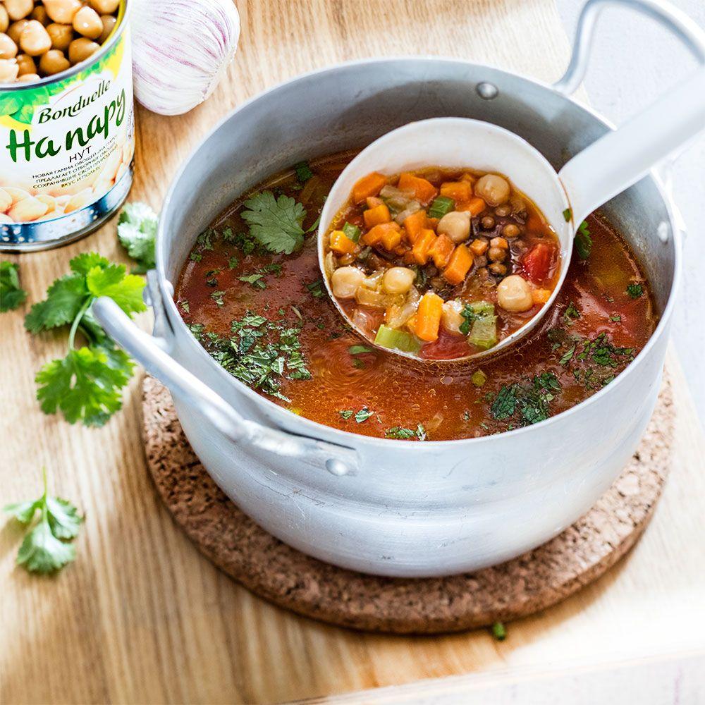 Рецепт Постный суп с нутом