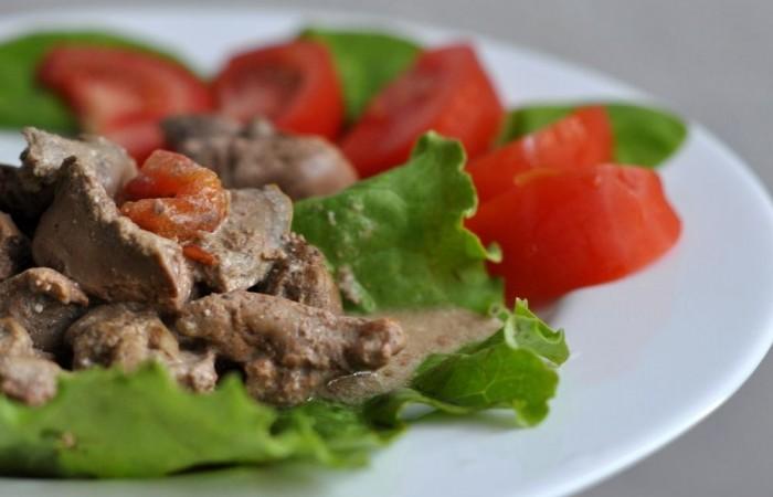 Рецепт Печень нежнейшая в сметанном соусе