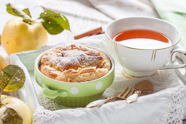 Рецепт Клафути с яблоками и корицей