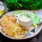 16862 Рецепт Кабачково-сырные оладьи в духовке