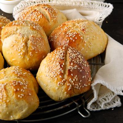 Рецепт Булочки с сырно-грибной начинкой