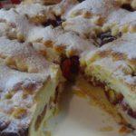 16923 Рецепт Пирог со сливами на дрожжевом тесте