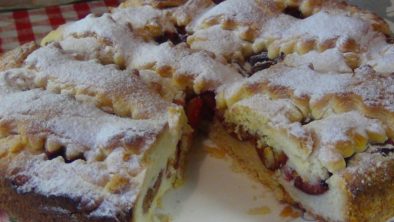 Рецепт Пирог со сливами на дрожжевом тесте