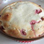 16930 Рецепт Творожная запеканка с яблоком и ягодами при диете № 5