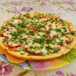 16963 Рецепт Пицца на сметане с грибами