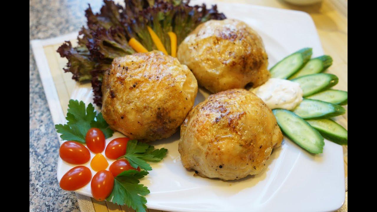 Рецепт Фаршированные сыром куриные бедрышки в аджике
