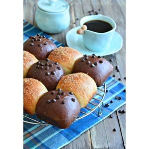 17036 Рецепт Булочки шоколадные и ванильные