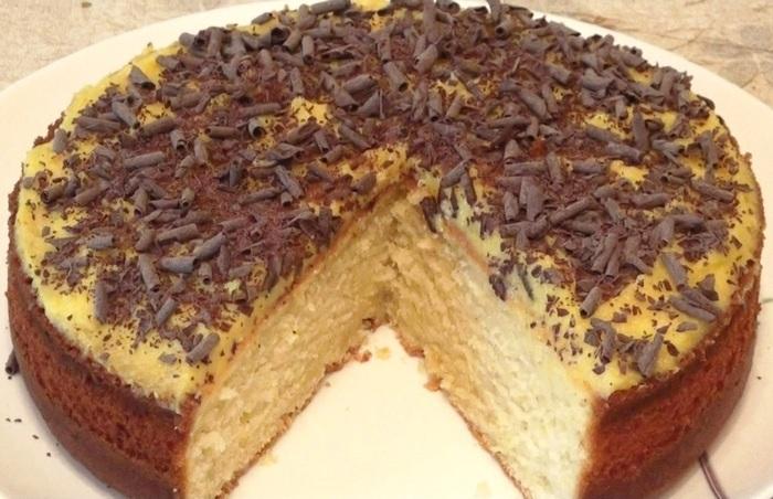 Рецепт Творожный пирог с апельсиновым курдом