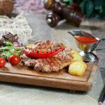 17053 Рецепт Свиная корейка на сковороде