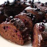 17070 Рецепт Шоколадный пирог с чёрной смородиной