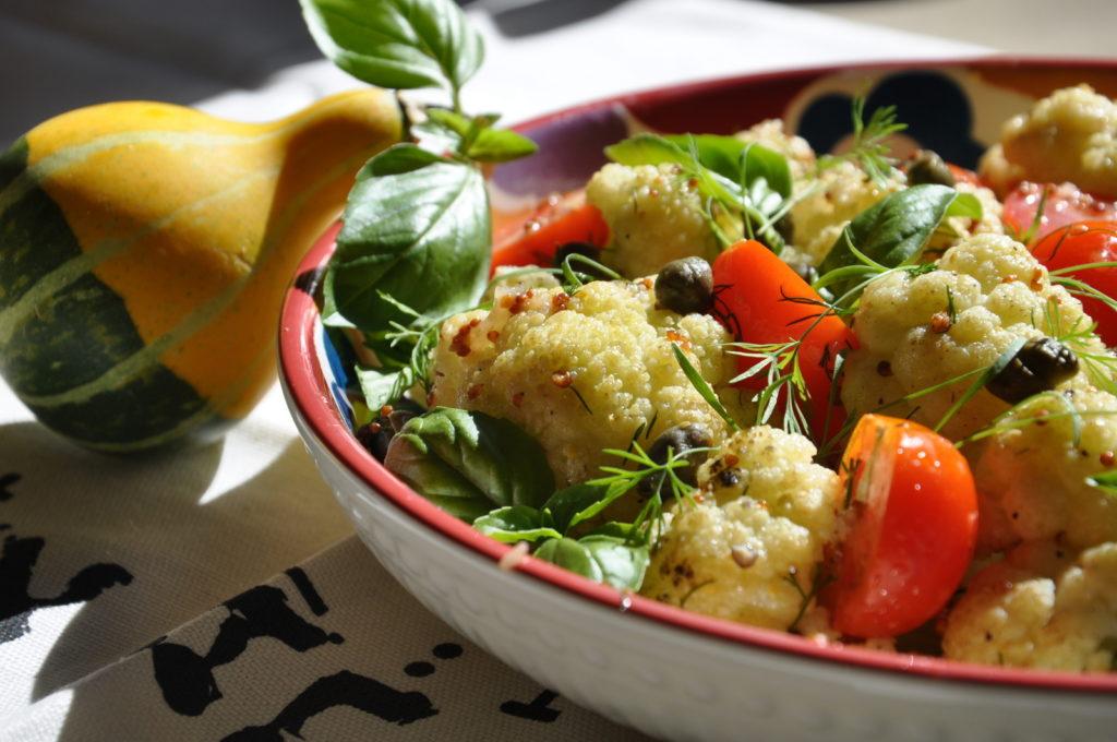 Рецепт Пряный салат из цветной капусты