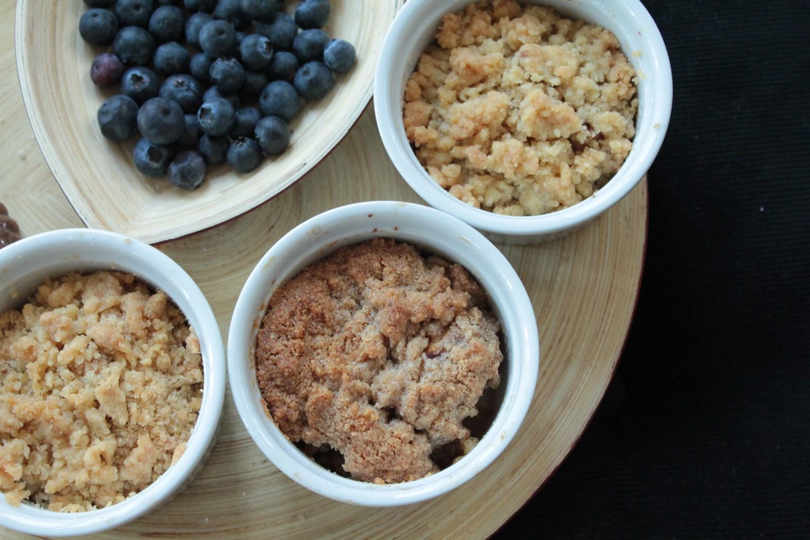 Рецепт Яблочно-грушевый крамбл с заварным кремом