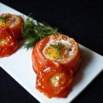 17146 Рецепт Яичницы в помидоре