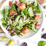 17154 Рецепт Лёгкий салат с польпетте